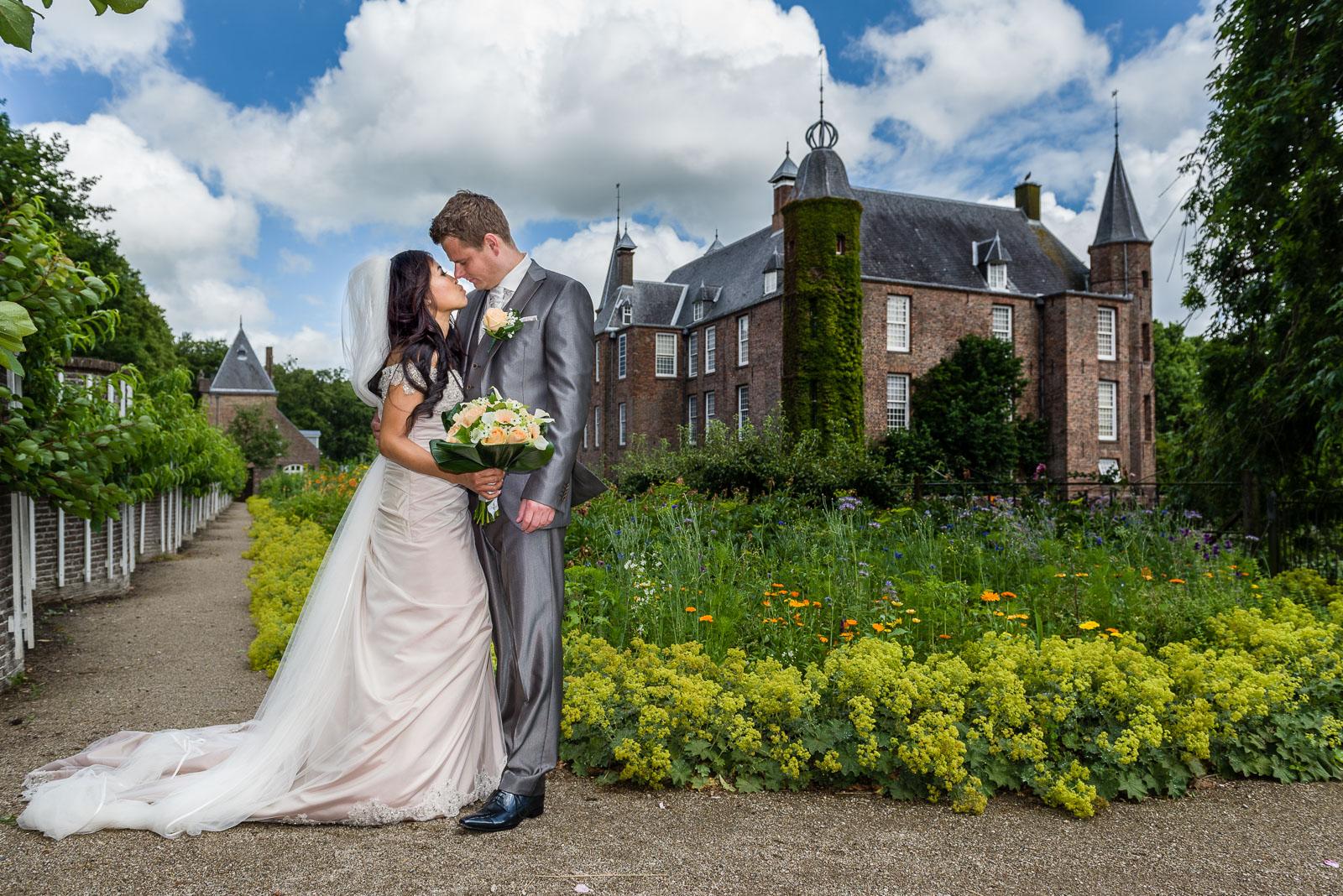 Trouwen bruidsreportage Slot Zuilen