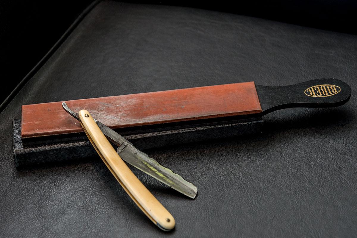 Productfotografie van een kapper scheermes