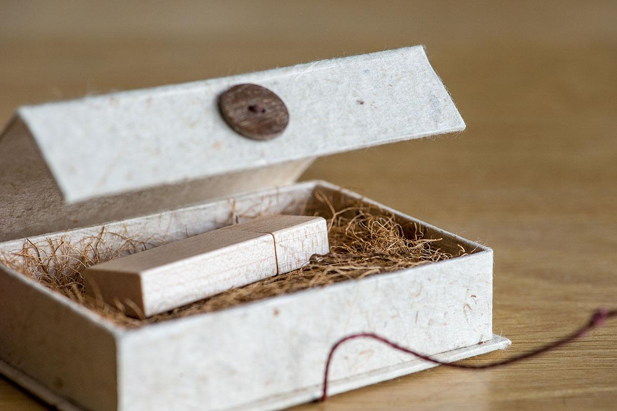 Productfotografie een Opbergdoosje voor USB Stick